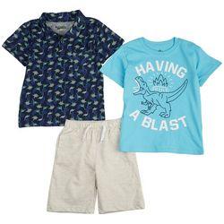 Nannette Toddler Boys 3-pc. Having A Blast Shorts Set