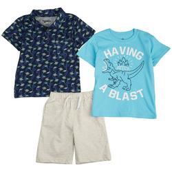 Toddler Boys 3-pc. Having A Blast Shorts Set