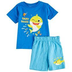Baby Shark Toddler Boys 2-pc. Baby Shark Character Short Set
