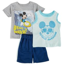 Mickey Mouse Toddler Boys 3-pc. Brave The Wave Short Set
