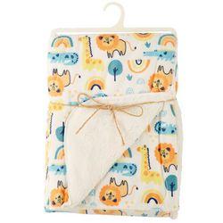 Chick Pea Baby Boys Safari Animal Blanket