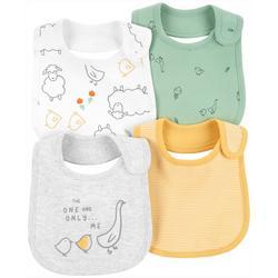 Baby Boys 4-pk. Animal Print Bib Set