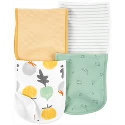 Baby Boys 4-pk. Vegetable & Stripe Burp Cloth Set