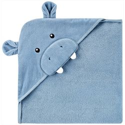 Carters Baby Boys Hippo Hooded Towel