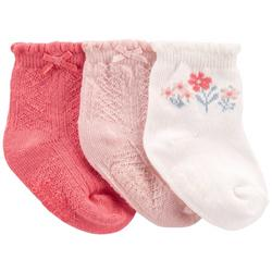 Baby Girls 3-pk. Ruffle Floral Socks