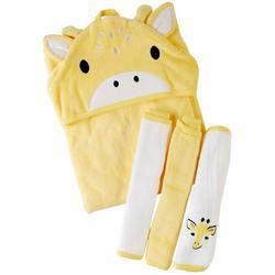 Baby Boys 4-pc. Giraffe Bath Set