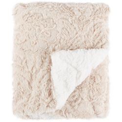 S.L. Home Fashions Solid Faux Fur Baby Blanket