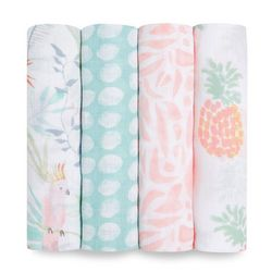 Aden And Anais Baby Girls 4-pk. Tropicalia Swaddle