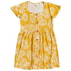 Roxy Big Girls Palm Print Dress