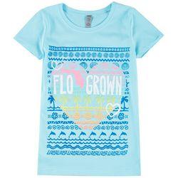 FloGrown Big Girls Heart Logo Short Sleeve T-Shirt