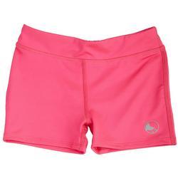 Girls Solid Spandex Shorts