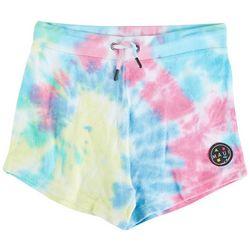 Maui & Sons Big Girls Terry Cloth Tie Dye Shorts
