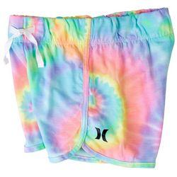 Hurley Little Girls Cabana Tie Dye Logo Pull On Shorts