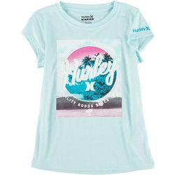 Hurley Little Girls Beach Photo T-Shirt