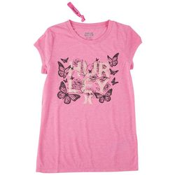 Hurley Big Girls Butterfly T-Shirt