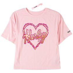 Hurley Big Girls Boxy Heart T-Shirt
