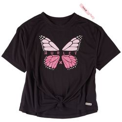 Hurley Big Girls Butterfly Front Tie T-Shirt