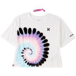 Hurley Big Girls Boxy Spiral T-Shirt