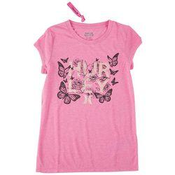 Hurley Little Girls Butterfly T-Shirt