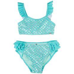 XOXO Little Girls 2-pc. Mermaid Scale Swimsuit Set