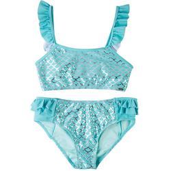 Big Girls 2-pc. Mermaid Scale Swimsuit Set