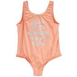Pink Platinum Big Girls Just Wanna Have Sun Swimsuit