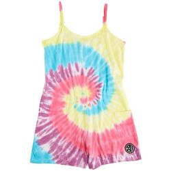 Maui & Sons Big Girls Tie Dye Romper Cover Up