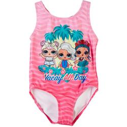 Little Girls Vacay All Day One-Piece Swimsuit