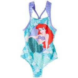 Disney The Little Mermaid Little Girls Ariel Ruffle Swimsuit