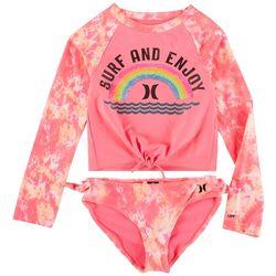 Hurley Little Girls 2-pc. Tie Dye Long Sleeve