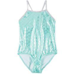 Reel Legends Big Girls Foil Mermaid Scale Swimsuit