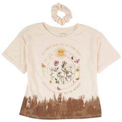Self Esteem Big Girls Flower Sun Short Sleeve Top