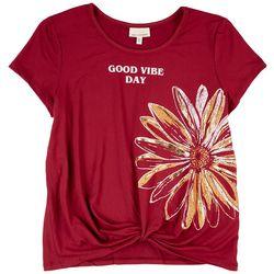 Self Esteem Big Girls Good Vibe Day Short Sleeve Top