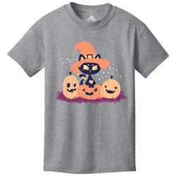 Big Girls Kitty Pumpkin T-Shirt