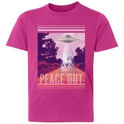 Awayalife Big Girls Peace Out T-Shirt