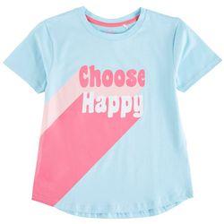 Reverse Threads Big Girls Choose Happy T-Shirt