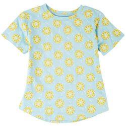 Reverse Threads Big Girls Lemon Print T-Shirt