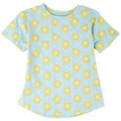 Big Girls Lemon Print T-Shirt