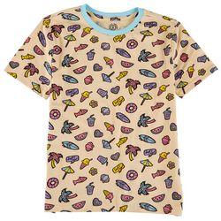 Reverse Threads Big Girls Summer Icon Print T-Shirt