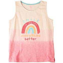 Reverse Threads Big Girls Smile Rainbow Tank Top