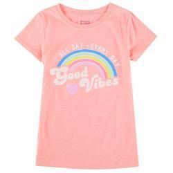 Big Girls Good Vibes Rainbow Top