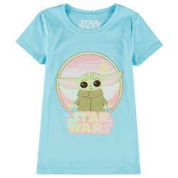 Star Wars Little Girls The Child Glitter T-Shirt