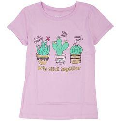 Stars & Sprinkles Big Girls Cactus Friends Top