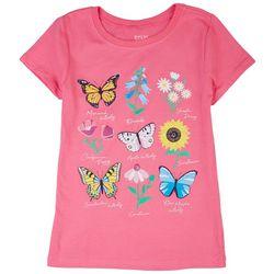 Stars & Sprinkles Big Girls Butterfly & Flowers Top