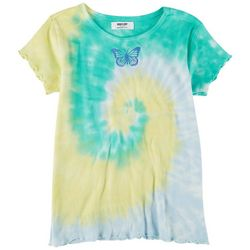 Full Circle Trends Big Girls Tie Dye Butterfly Top