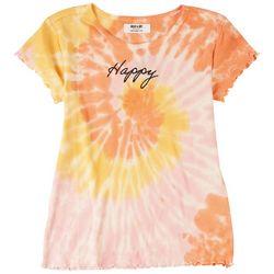 Full Circle Trends Big Girls Tie Dye Happy Top