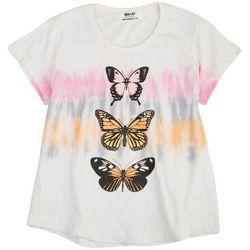 Full Circle Trends Big Girls Tie Dye Stripe Butterfly Top
