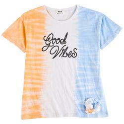Full Circle Trends Big Girls Good Vibes Tie Dye Top