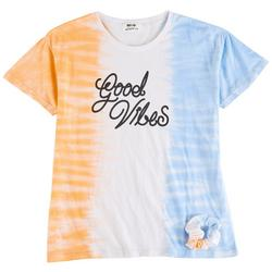 Big Girls Good Vibes Tie Dye Top