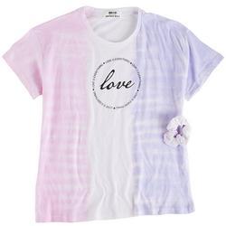Big Girls Love Circle Tie Dye Top